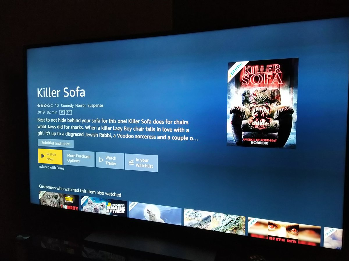 Time to chill !!! Watching Killer Sofa on prime video  #horrorcomedy #PrimeVideopic.twitter.com/NzNxyvHSku