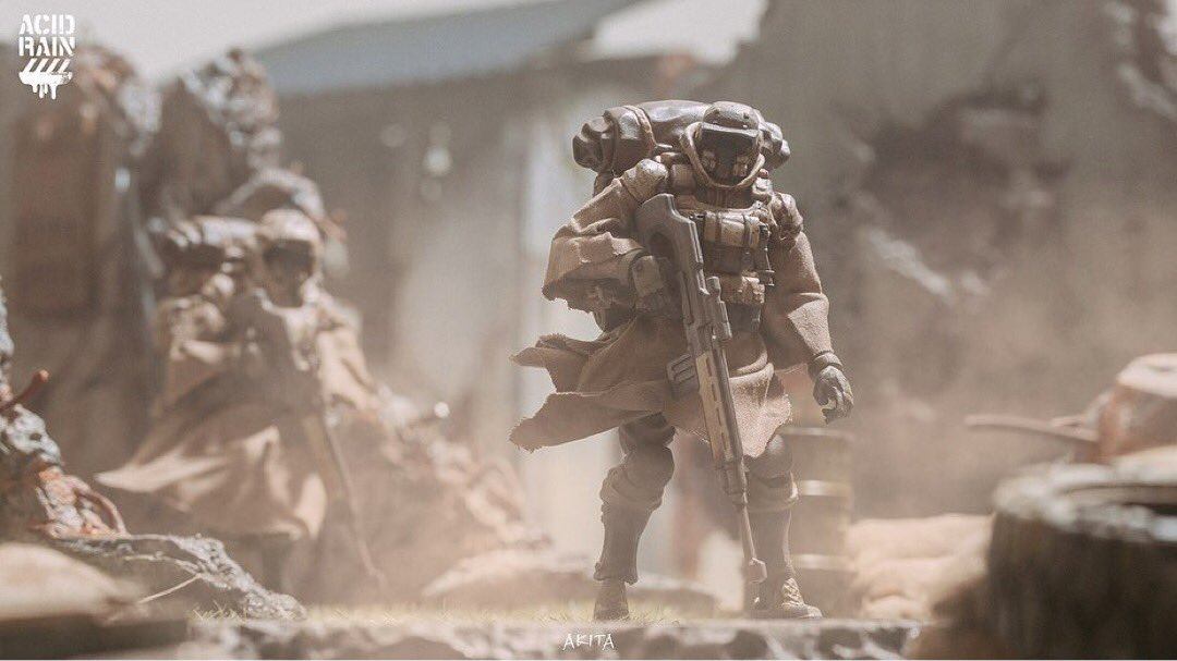 Photo by @akita5995  . Acid rain world  Sand team Corsac Marksman . #acidrain #acidrainworld #actionfigures #118 #toysalliance #artwork #SciFi #Sciencefiction #Scifiart #War #Soldiers #Militarypic.twitter.com/PETJL9aPbA