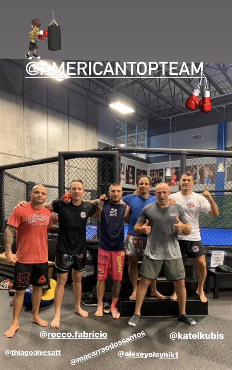 Последняя тренировка  Завтра вылет  Training camp is over  @AmericanTopTeam  @santosmacarrao @katelkubis @ThiagoAlvesATT  #mma #sport #warrior #oleynik #attnation #training #oldschool #power https://t.co/8MbYYTrSYP