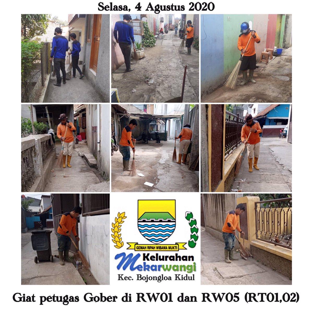 Giat petugas Gober pagi pembersihan jalan lingkungan di RW01 dan RW05 (RT01,02) Kelurahan Mekarwangi Kecamatan Bojongloa Kidul Kota Bandung pada hari Selasa tanggal 4 Agustus 2020 @OdedMD @kangyanamulyana @dlhk_kotabdg @pembdg @kecbojkid_ktbdg #bandungjuara #tetapsemangat pic.twitter.com/wh5Dgiz61P