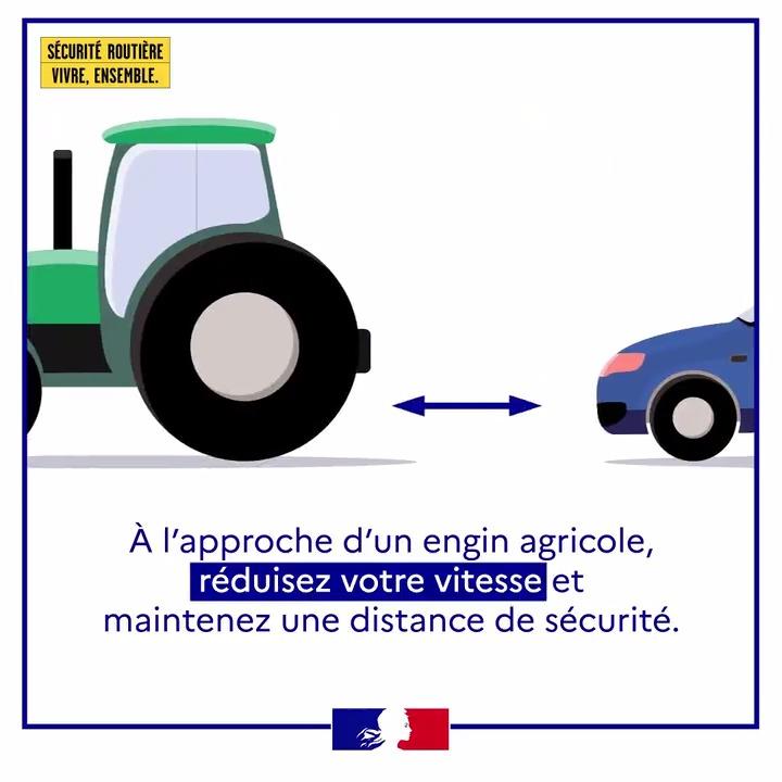 Image for the Tweet beginning: 🚜🌾 Visibilité réduite, faible allure,