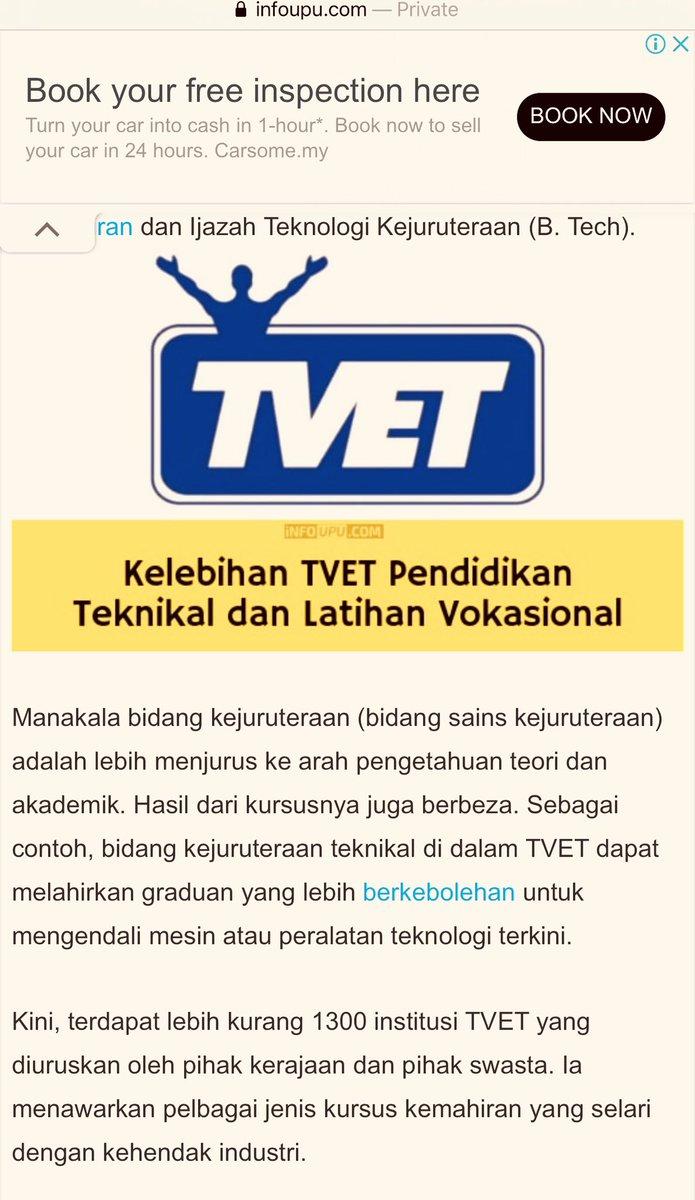 Di #DewanRakyat saya cadang KPT agar 1219 buah #TVET penuhkan kapasiti utk lepasan #SPM (389,498 thn 2019) yg tak ke #universiti  Tambah lagi institusi pendidikan latihan teknikal vokasional ini  Majoriti lepasan TVET beroleh pekerjaan & ini penting kpd #belia #anakmuda #Malaysiapic.twitter.com/7Eciv8UDwA