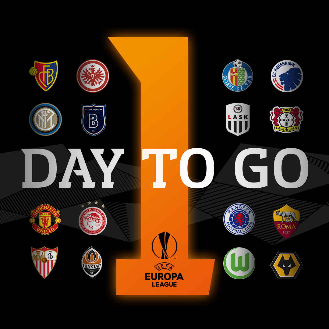 The #UEL returns in just 1⃣ day!   Who's your team? 🤩 https://t.co/0CsWlsSlum