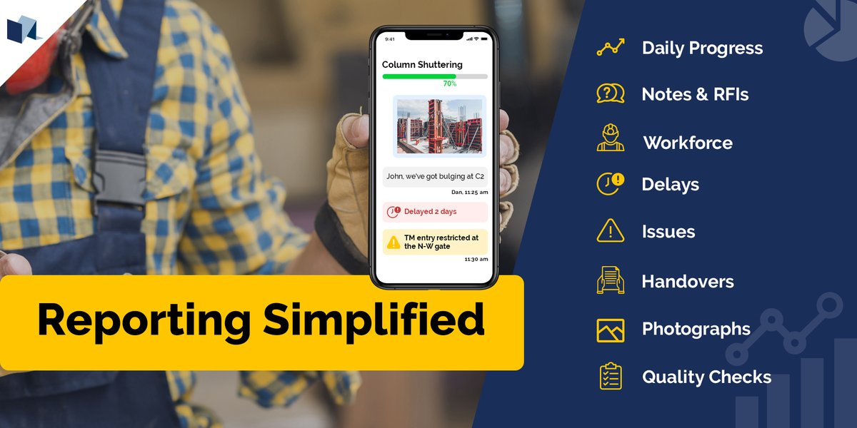 Your team's single source of all reporting.  #visilean #constructionsimplified  #aec #lean #bim #reporting #reportingtool #dpr #rfi #handover #qualitycontrol #constructiontechnology #digitalisation #notes #communcication #constructionsoftware #leanconstruction #digitisationpic.twitter.com/qECU6vtOi4