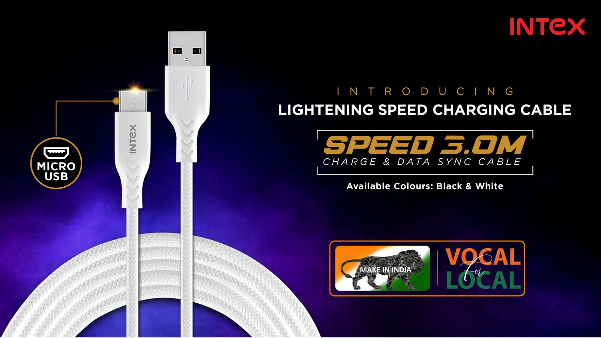 Don't let slow cables slow you down. Get the lightning speed #charging & #datatransfer cable- Speed 3.0 today!  Know more: https://bit.ly/3groE8P   #IntexTechnologies #TechNews #technology #technologynews #technologyofindia #Lifestyle #TrendUpdates #LatestInTech #NewLaunchpic.twitter.com/7PUq5v1ihU