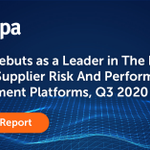 Image for the Tweet beginning: .@Coupa Debuts as a Leader