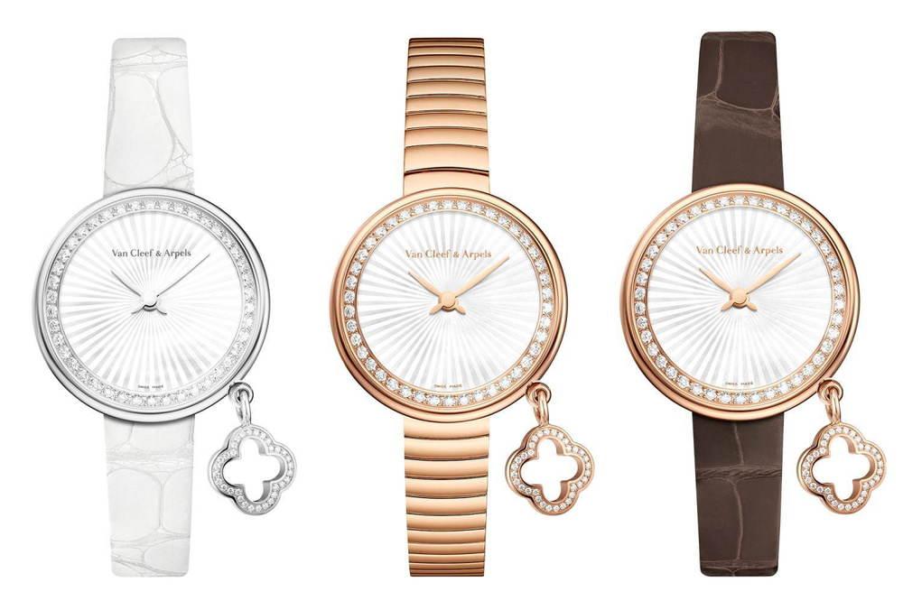 """ヴァン クリーフ&アーペル""""クローバー""""チャーム煌めく腕時計に新作、ローズ&ホワイトゴールド -"""
