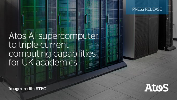 Atos delivers largest #AI 'SuperPOD' supercomputer in the UK to @UniofOxford @oxforderesearch...