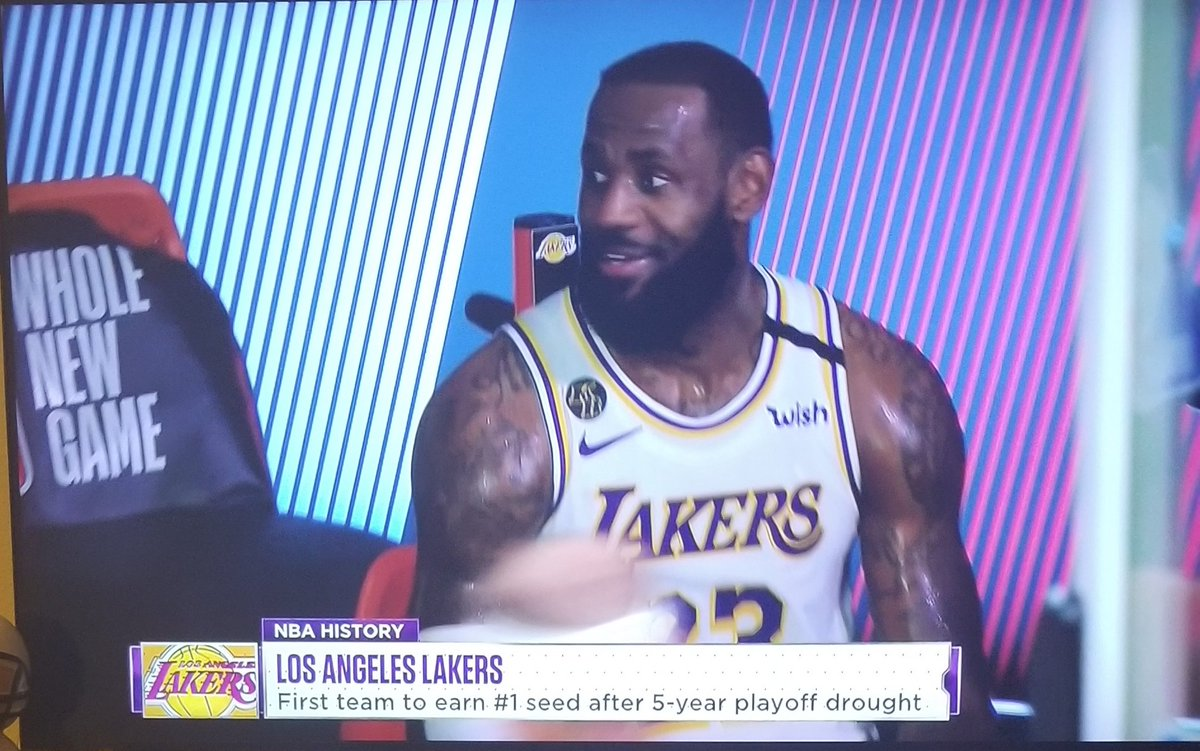 #1 seed baby !!!! #LakersNation #lakeshow feels good to be back in the playoffs !!!!pic.twitter.com/oVOn0zbidb