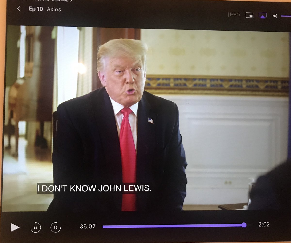 But Ghislaine Maxwell, MBS, Charlottesville nazis, Putin, all unequivocally folks we should understand have good qualities. John Lewis, one of the greatest men of this or any generation, a man who's life was dedicated to service in pursuit of equality/justice he is unsure of.