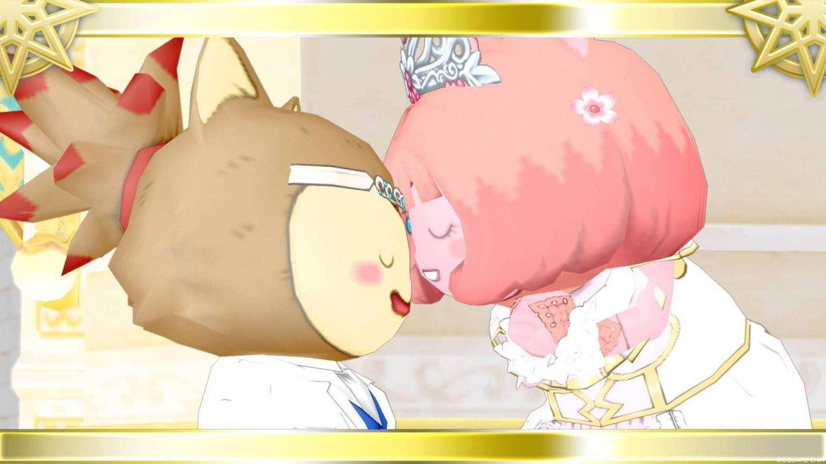 ----------------------アヤネコは もやし(@moyapuku6 )とけっこん した!----------------------ドラクエ婚、ティア婚というかアスコン ならぬ アス婚かも…💍笑本日無事に入籍届が受理されました。リアルでもドラクエでも、末永くよろしくお願いします💐#もやネコ #DQX