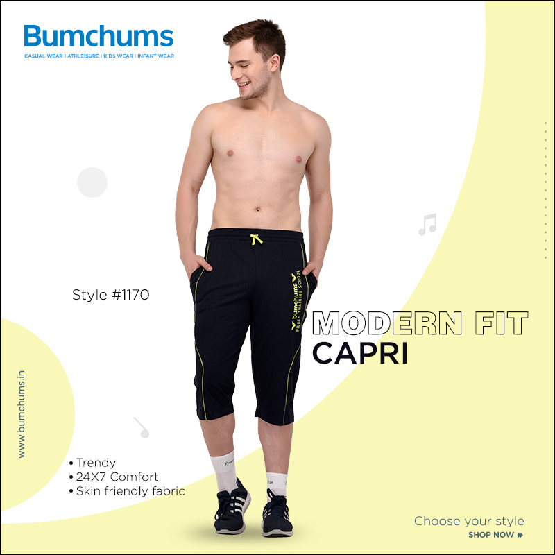 Make Your Style with Bumchums! Shop For This Trendy Modern Fit Capri @ https://bumchums.in/  Also shop @Flipkart  :- https://bit.ly/bumhums-f  And @amazonIN  :- https://amzn.to/38J16sX  #Tshirts #Bermudas #Loungers #Athleisure #CasualWear pic.twitter.com/2yoCBckbxf