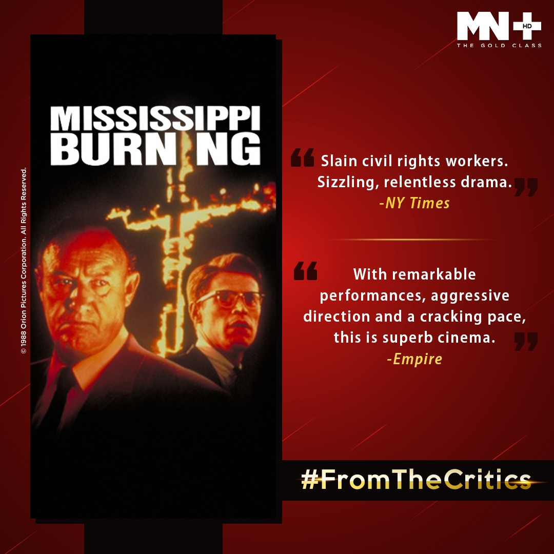 #MississippiBurning tells a fictionalized version of the real events in Mississippi, 1964, when three civil rights workers disappeared mysteriously. #FromTheCritics  #NewYorkTimesReview #EmpireReview #MovieReviews https://t.co/PjAbBRRFZF