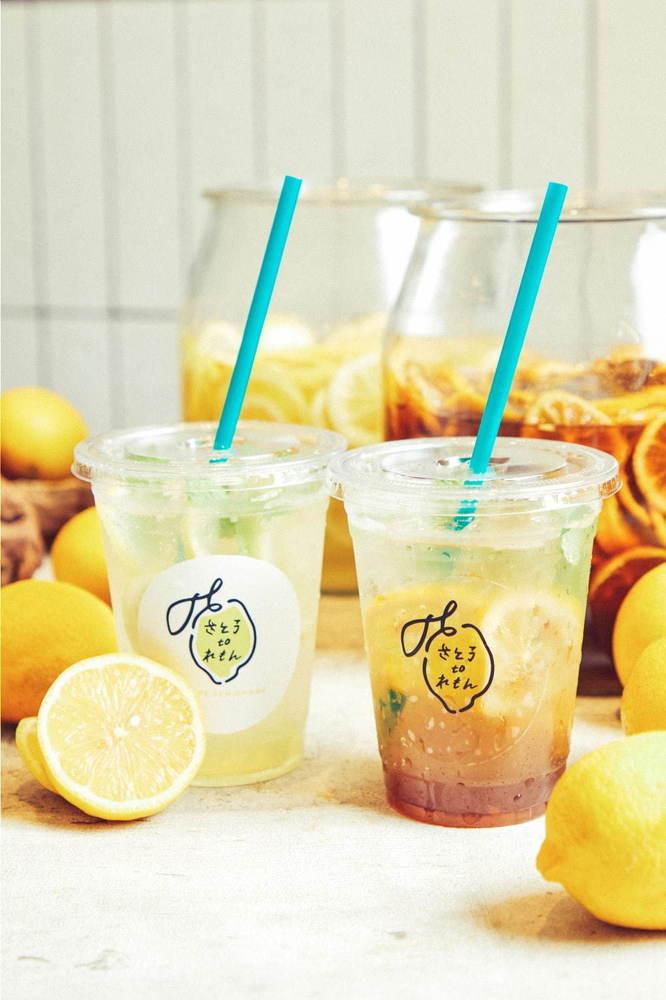 自然派レモネード専門店「さとうtoレモン」なんばCITY本館に夏季限定オープン、味の決め手は素焚糖由来の黒シロップ -