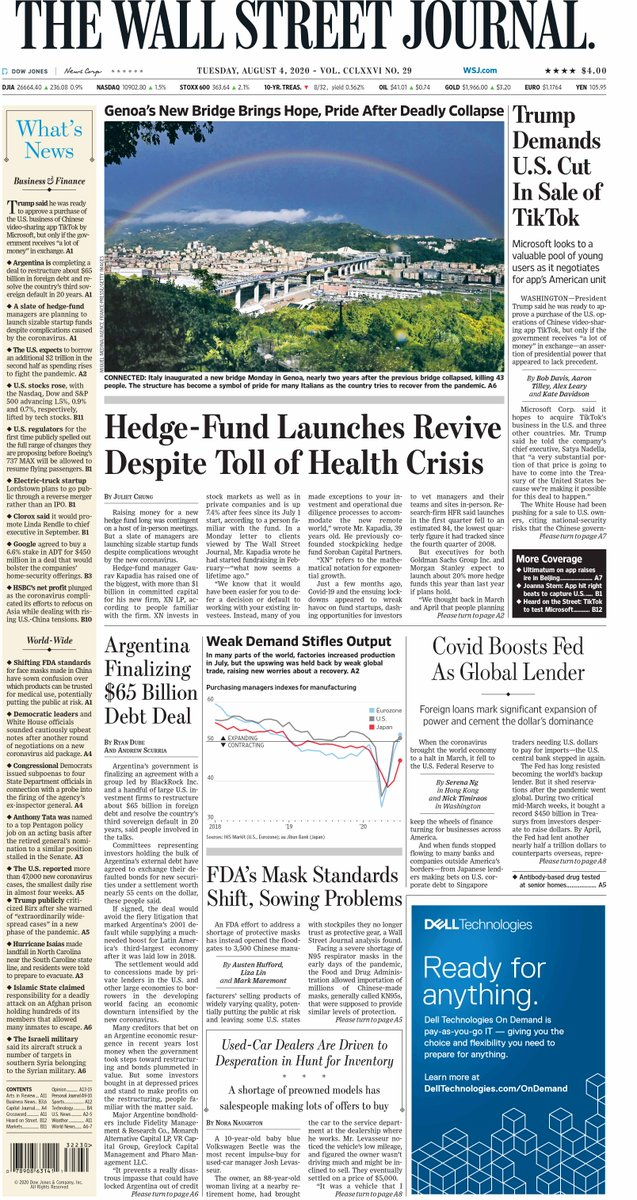 Take an early look at the front page of The Wall Street Journal https://t.co/5xQPDPcm8q https://t.co/Gpc2SIu4Qc