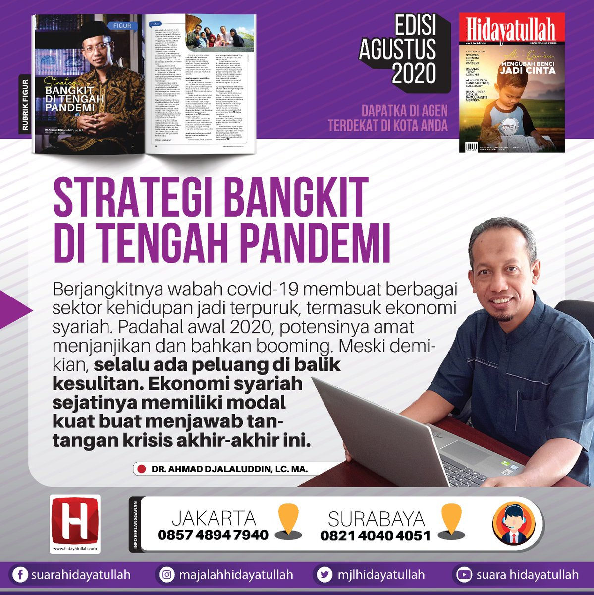 Selalu ada peluang di balik kesulitan. Simak strategi #bangkitpandemi di @mjlhidayatullah @hidcom #MenujuJurangResesi #seninsemangat pic.twitter.com/H82bWnb0f6