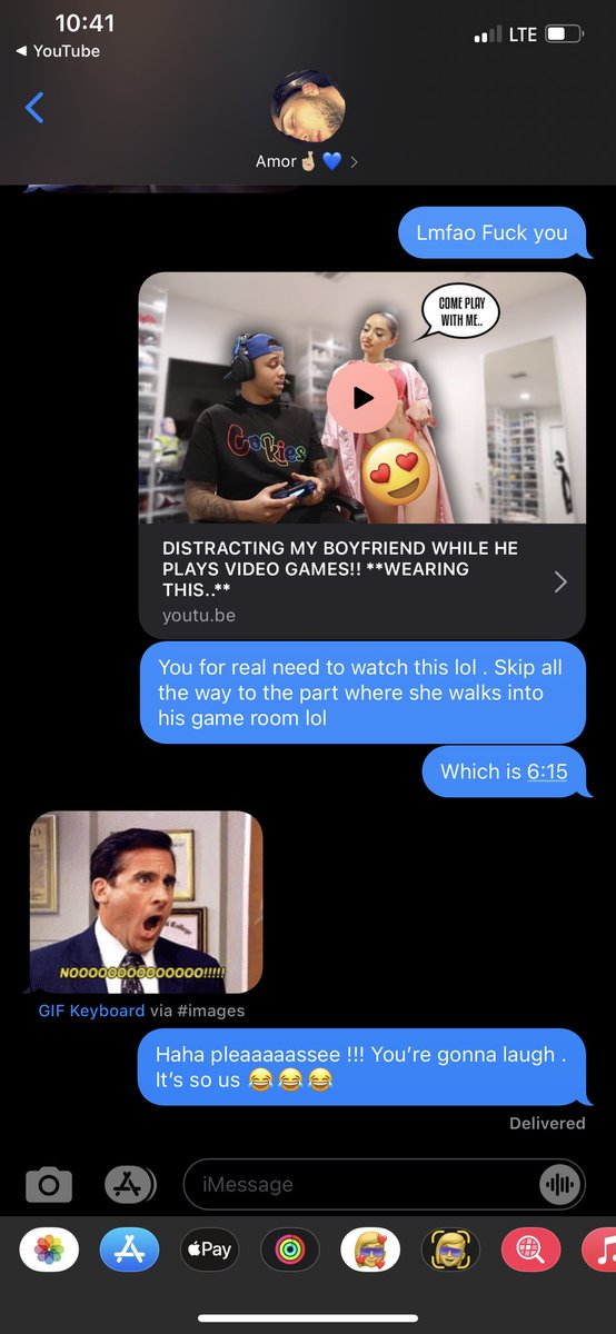 My boyfriend gets annoyed when i stay sending him links of my favorite youtubers  even from across the country @TheeRealKarla @kburton_25pic.twitter.com/T8Qf9P4ZNO