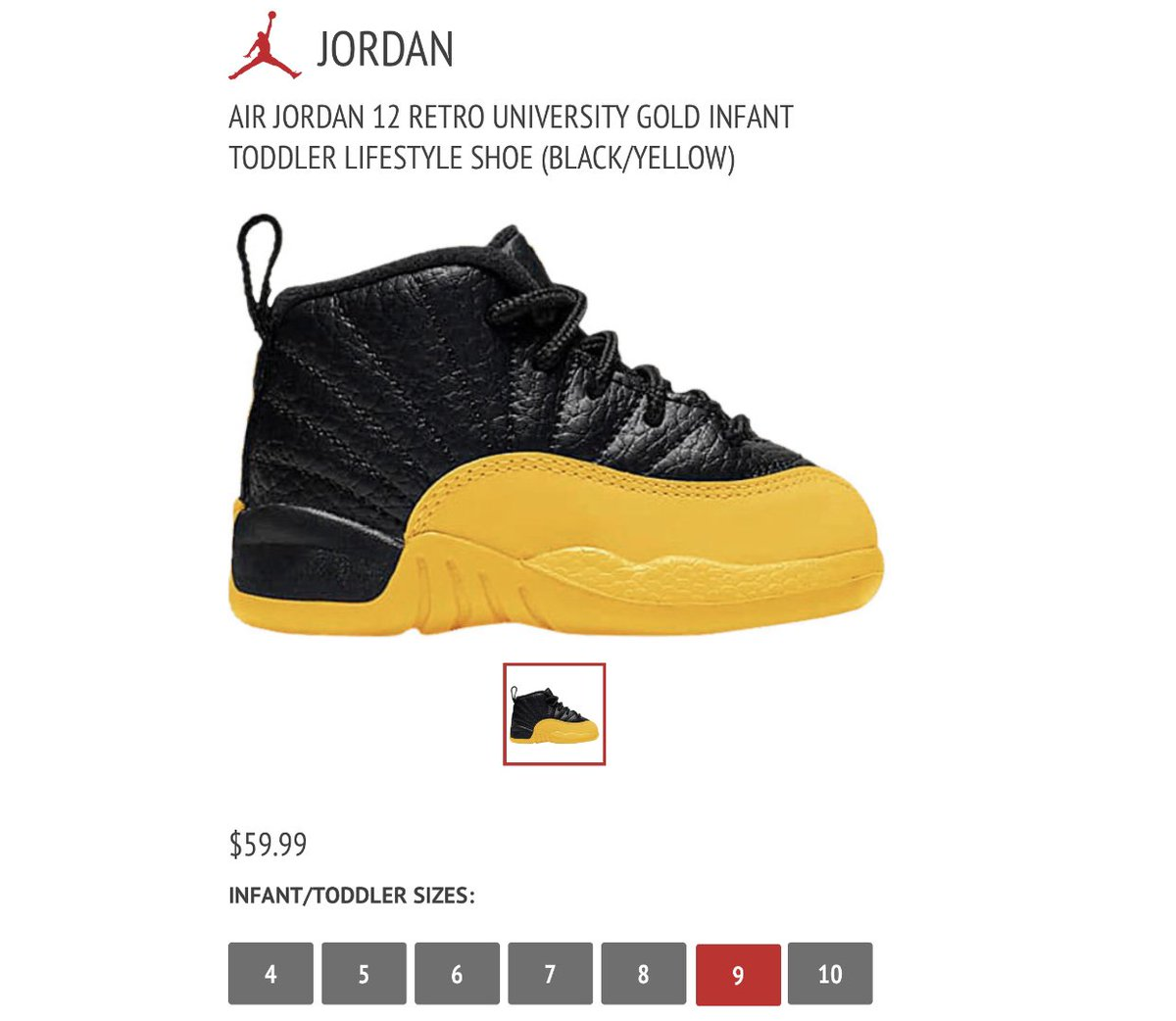 Snkr Twitr On Twitter Toddler Jordan Retro 12 Black University