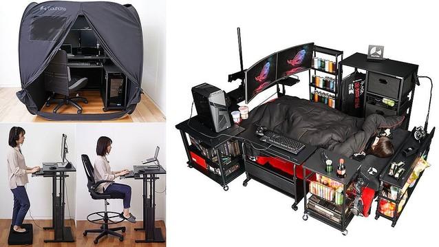 【在宅で浸透】ゲーミング家具、テレワークで売上好調テレワークで仕事に集中できない人や、オンライン会議の際にこもりたい人からの需要が高まった。10万円給付も後押しになったとみられる。