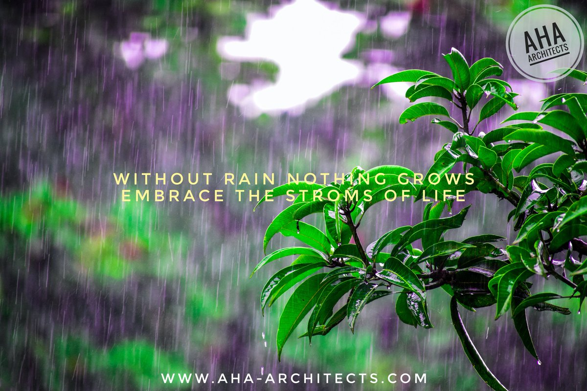 Rain bring Strom as well as it brings life force it is upon us to embrace the life force and convert it into growth. #positiveimpact #life #positiveattitude #rainpic.twitter.com/2BJuEP3zhK