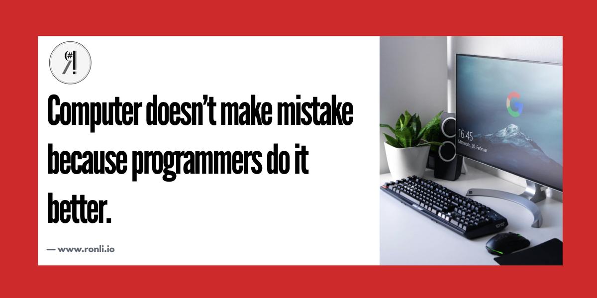 Every programmer will agree with it . . Follow us on Instagram: https://instagram.com/ronliofficial/ . . #100daysofcode #codenewbie #developer #programming #coding #webdeveloper  #programmer #RonLi #technology #developers #webdevelopment #Webdesigner #python #javascript #programmer #codepic.twitter.com/MlwiVTYLto