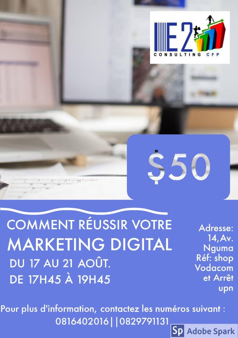 Dans un environnement où *la digitalisation*  est passée à la vitesse supérieure. L' *e-marketing* est devenu un moyen de communication  incontournable pour vendre, faire connaître ses produits, soigner son image, etc. @ElyzMukuku  @benndokolo2  #RDCpic.twitter.com/mQL8oY02T0