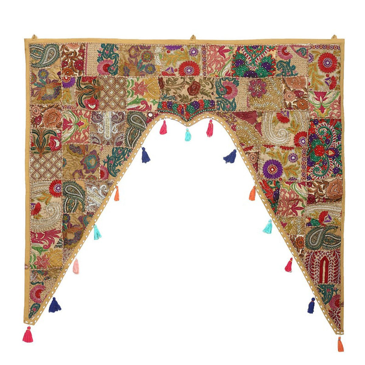 Excited to share the latest addition to my #etsy shop: Indian Window Pelmet Gate Door Topper Window Indian Traditional Hand Embroidered Door Valance Wall Hanging Tapestry https://etsy.me/2Xq3two  #ethnicwallhanging #patchworkvalance #doorvalance #doorhanging #wallpiece pic.twitter.com/n4RYpBKeWV