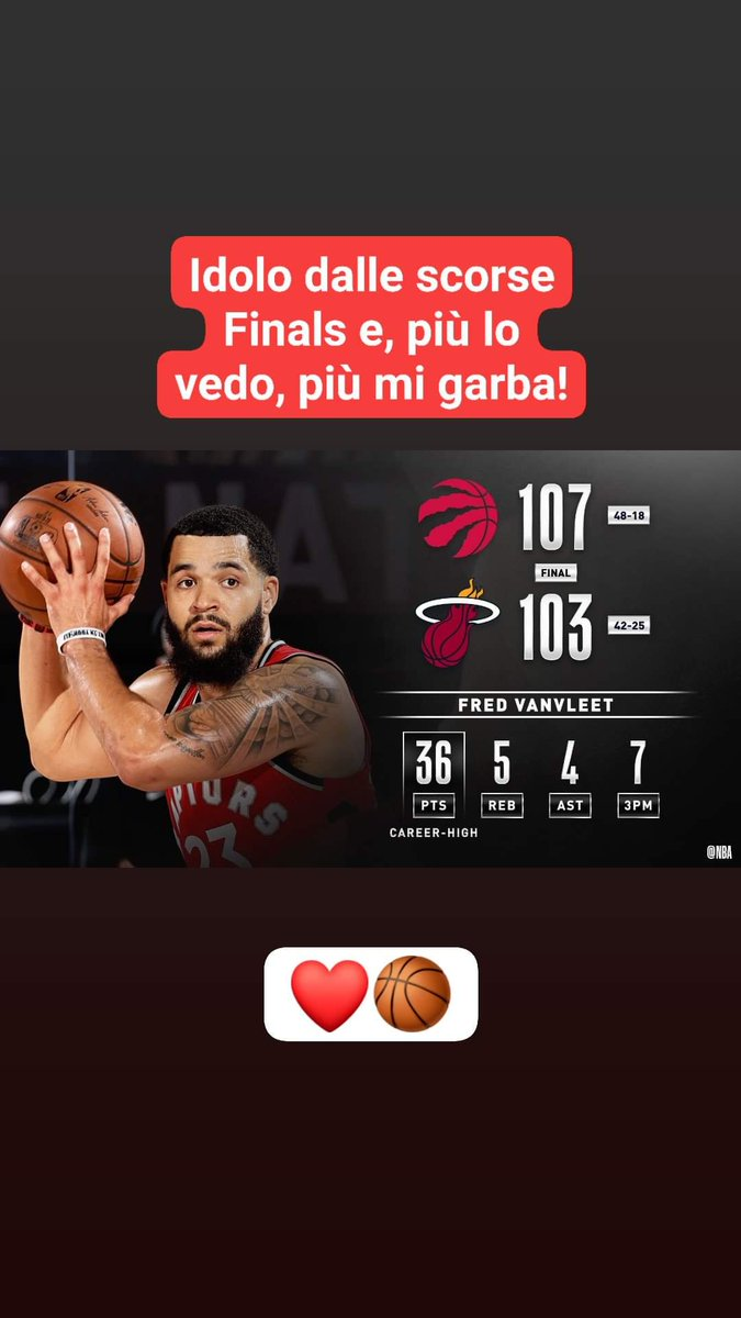 #FredVanVleet #Idolo !!   #raptorsvsheat #NBARestart #NBA #WholeNewGame https://t.co/jWyeZUvHS3
