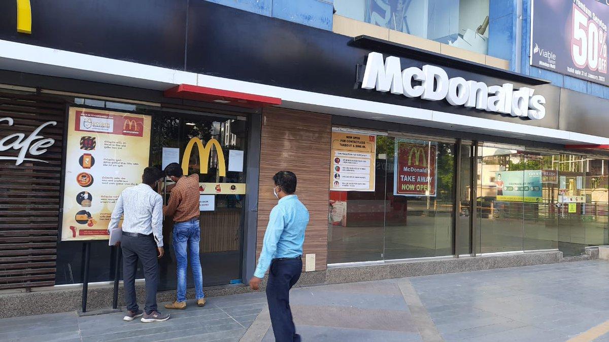 AMC teams seal Pharma company's office, McDonald restaurant