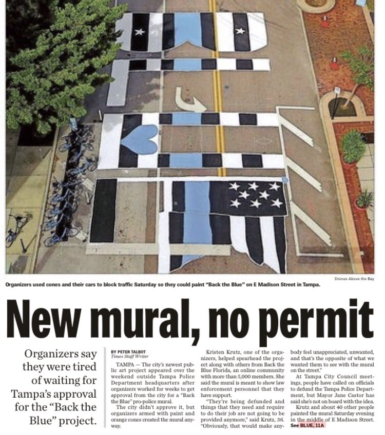 """""""That mural the cops painted is a crime.""""  i agree, it's ugly  """"No, it's literally a crime."""" https://t.co/hEINmLXrUD"""