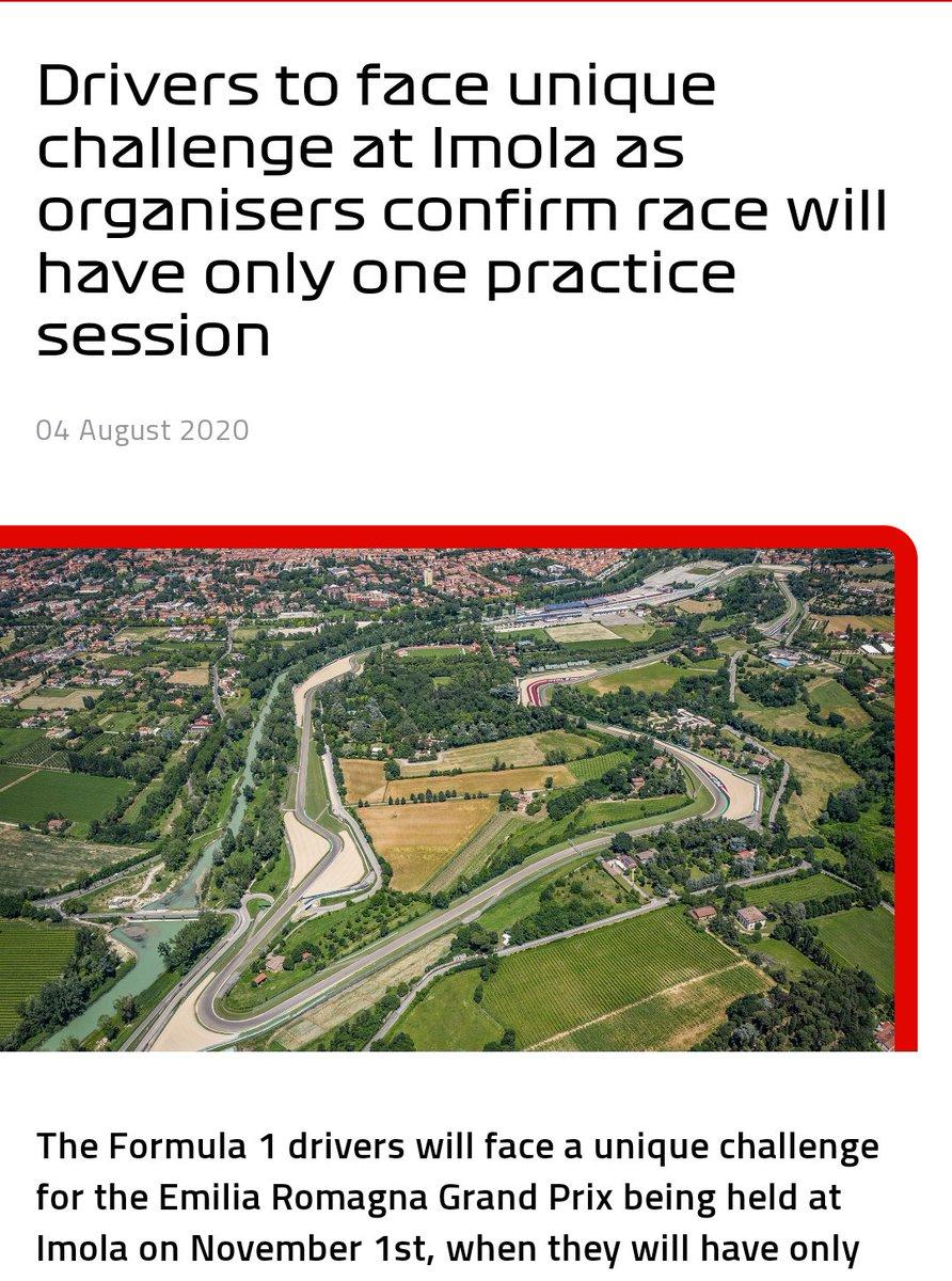 La Fórmula 1 confirma que el Gran Premio a celebrarse en Imola que será solo de dos días, solo contará con una sola práctica libre el sábado de 90 minutos y el domingo la carrera. #F1 #TuscanGP @omarketingf1 @HablandodeF1Mx @TavoMotta https://t.co/s0YiEVAKdl