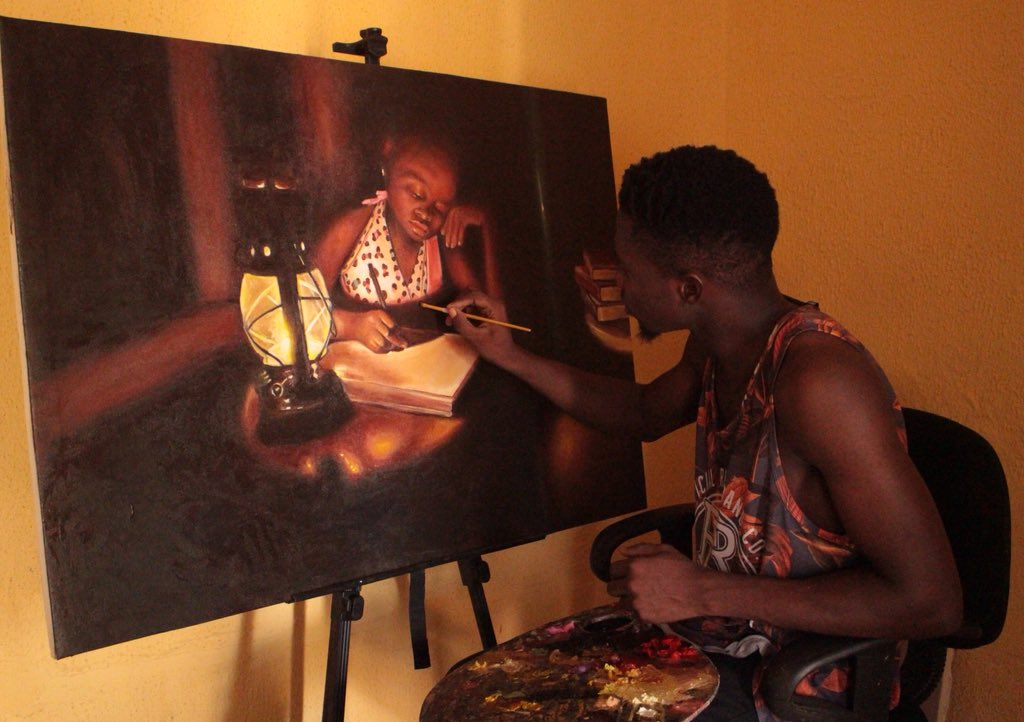 @gangwolf360 Hello Twitter, My name is Adeshina Adeodu,an artist from Nigeria. These are some of my recent oil on canvas painting