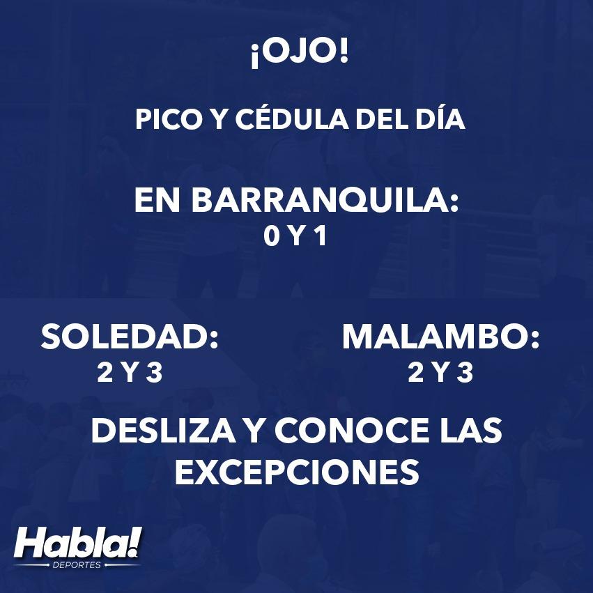 #Coronavirus ¡Mucho cuidado! Conoce cuál es el pico y cédula que rige el día de hoy en Barranquilla y el Atlántico en general: https://t.co/6YEzwWvFgE  #QuedateEnCasa #LavateLasManos https://t.co/n0CUXVGgIZ