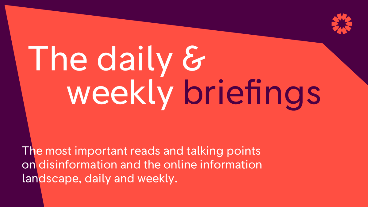 Not a subscriber yet? Get summaries of the most important articles and online narratives, tips for fighting disinformation, and a reading list of links direct to your inbox by signing up here: firstdraftnews.com/briefings