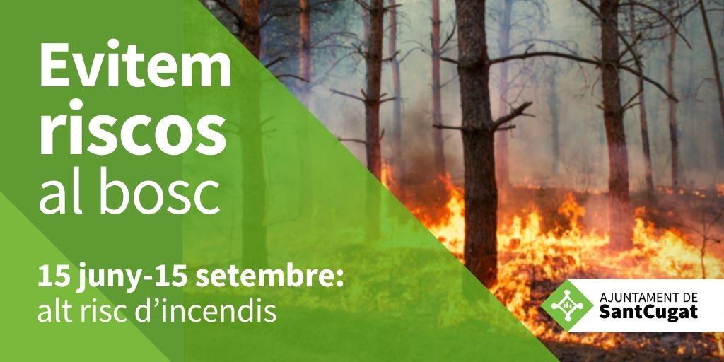 🌳🌳Preservar el bosc és cosa de tots i de totes.  ❗️Del 15 de juny al 15 de setembre, alt risc d'incendi❗️ Siguem prudents i seguim les recomanacions de #ProteccioCivil 👉https://t.co/lzDI9c2dYk  ⛔️🔥 Aquest estiu, NI UNA ESPURNA!  @FrancescCarol @avpcstcugat @GIEADFSCV
