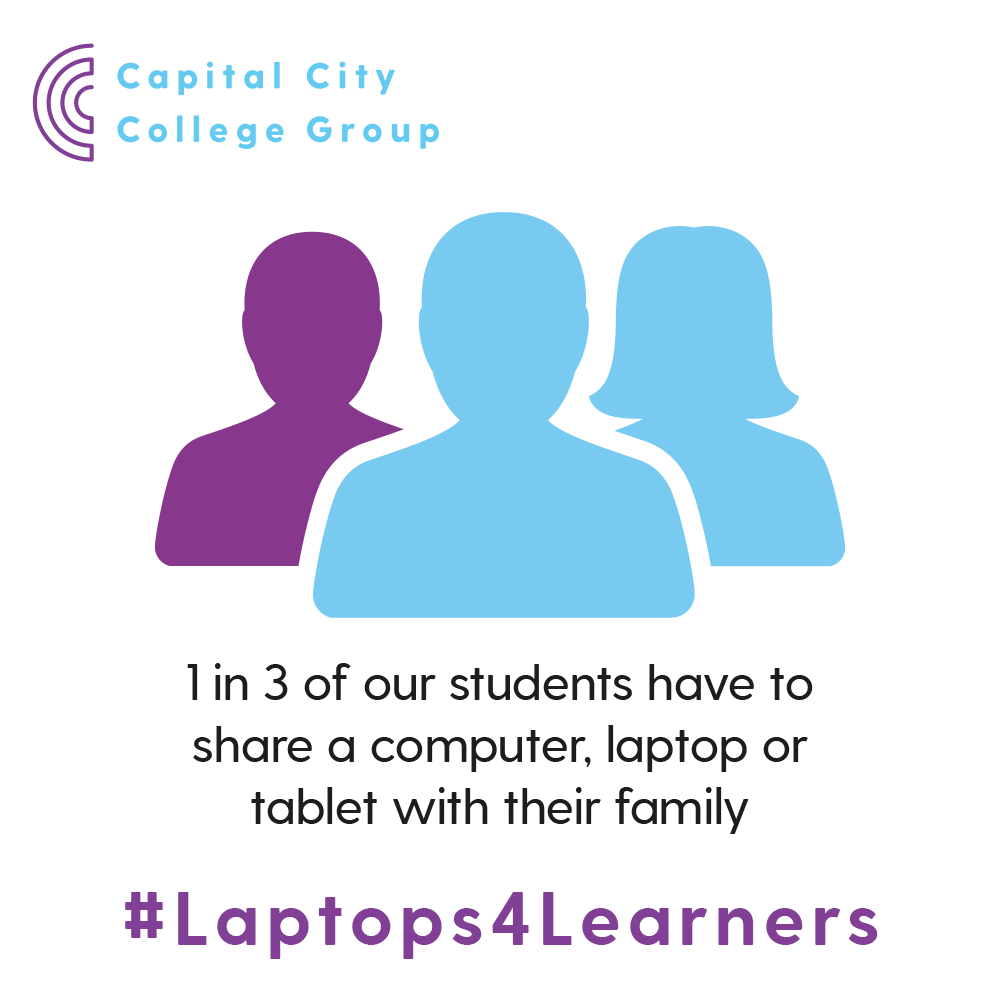 Restrictions brought about by #Covid19 meant that education moved online and shown a light on our learners situation with almost a third having to share a device with their family.   #Laptops4Learners is an initiative to support these learners: http://www.capitalccg.ac.uk/laptops4learners/…pic.twitter.com/PpR9zoWHDv
