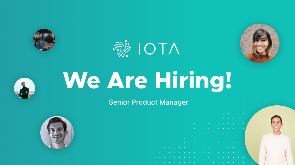 Our team is growing and we're looking for a Senior Product #Manager to join our Market Adoption Team. More details at https://t.co/9knk6roHdX #IOTA #IOTAJobs https://t.co/yxT46yWgUV