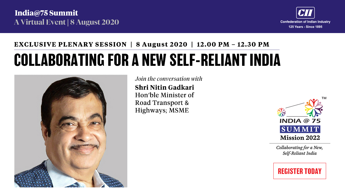 MSME and highways are key drivers for a self-reliant India. Join the conversation with Hon'ble Minister of Road Transport & Highways and MSME, Shri Nitin Gadkari. Register for free https://t.co/iLjTfRpOT3 @nitin_gadkari @minmsme @MORTHIndia @CIIEvents   #SelfReliantIndia #Summit https://t.co/DjeIlRuzTk