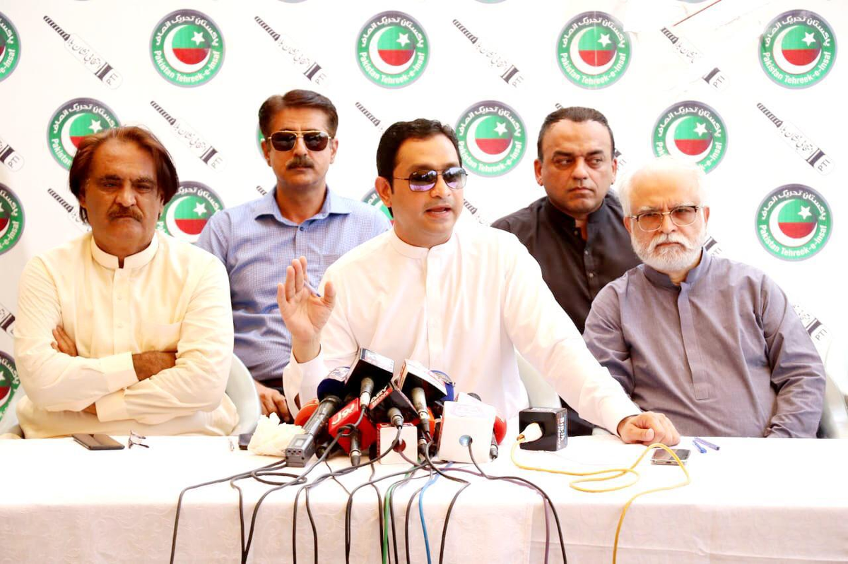 Attending Press Conference with President PTI Karachi @KhurrumZamanPTI  Despite 3rd consecutive Govt in Sindh, they have failed to deliver in administrative matters. They could not provide Karachi with a drainage system but now NDMA is cleaning Karachi. #PMIKStandsWithKarachi https://t.co/9YPzAG7Wcq