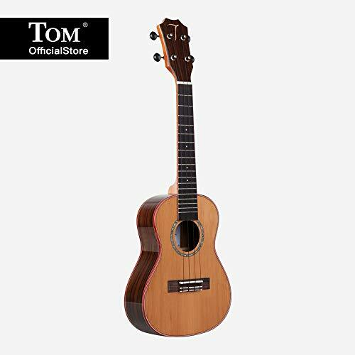 TOM Varnish Acoustic Ukulele 23 Inch | Handmade Mini Hawaiian Guitar with Solid Red Pine Top, Folk Headstock, Brilliant Rosette and Sideboard (TUC-690) #instruments pic.twitter.com/Sz7hcXnJmw