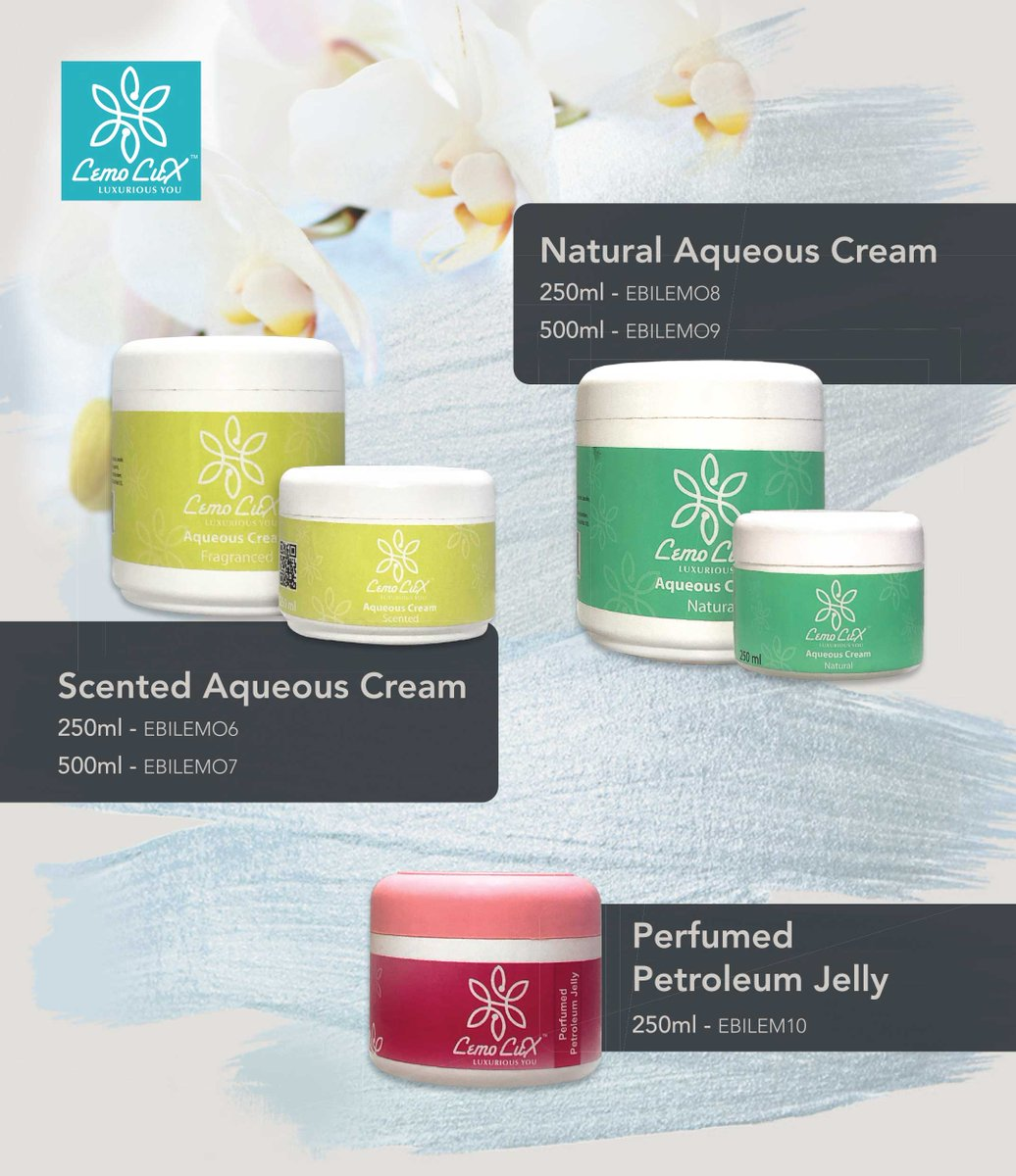Lemo Lux Aqueous Cream is a non-greasy emollient or moisturizer, it relieves dry skin conditions such as eczema. it also helps to retain moisture on the skin and reduce dryness.  #lemoluxaqueouscream #mylemolux @chemfresh SA @chemfresh_SA visit our store https://t.co/OGgh8F6do6 https://t.co/n2bvBjnPQD