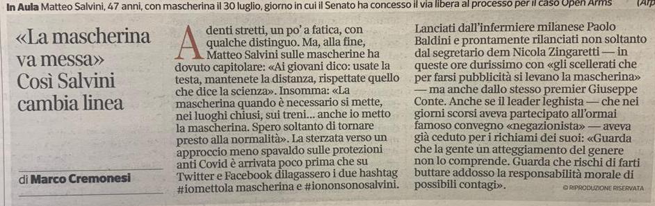 #IoMettoLaMascherina