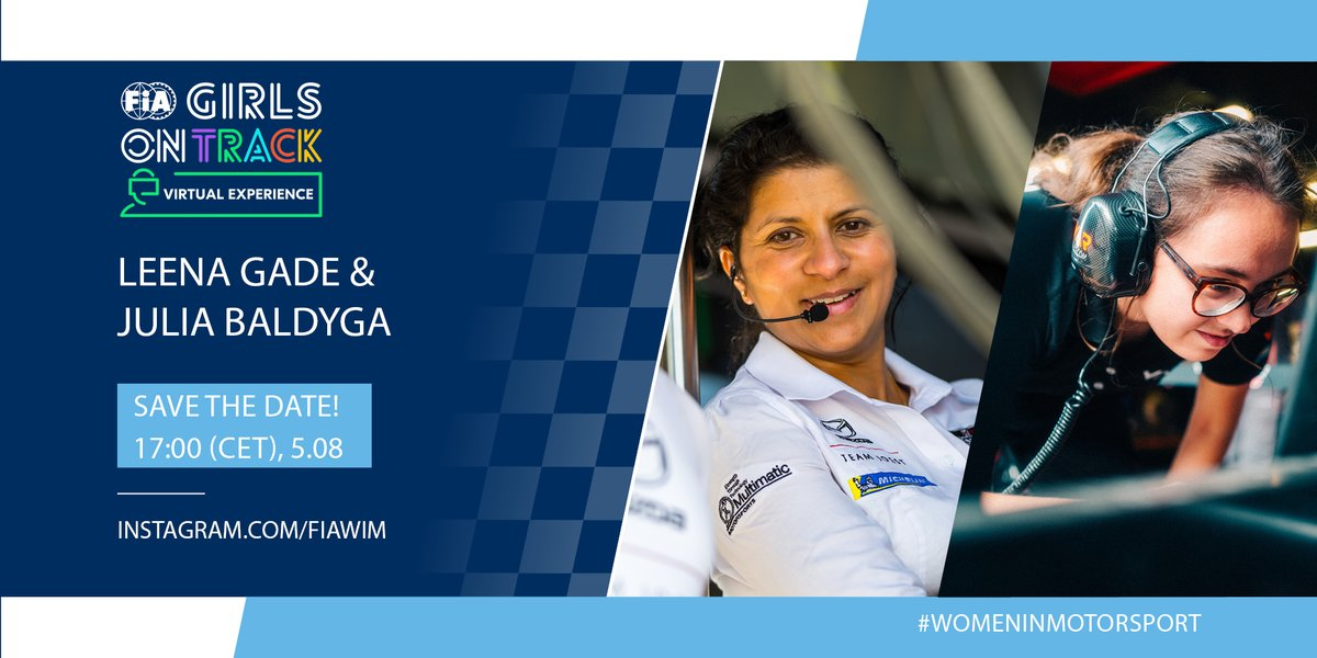 SAVE THE DATE: 17:00 hrs (CET) on Wednesday, 5th of August!📅You will have a unique opportunity to put your own questions to the exceptional engineers. Join us tomorrow on Instagram and meet: @Leena_Gade and Julia Baldyga. #GirlsonTrack #VirtualExperience https://t.co/ozRWgZVXKn
