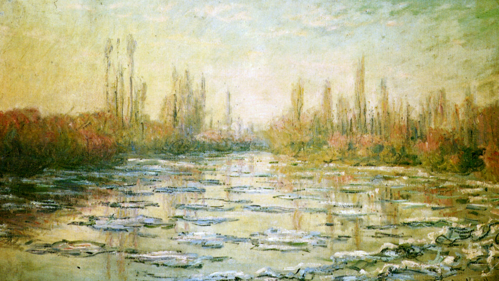 The Ice Floes, Claude Monet @artistmonet, 1880 wikiart.org/en/claude-mone… #impressionism #wikiart
