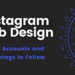 Image for the Tweet beginning: Instagram #WebDesign – Best Accounts