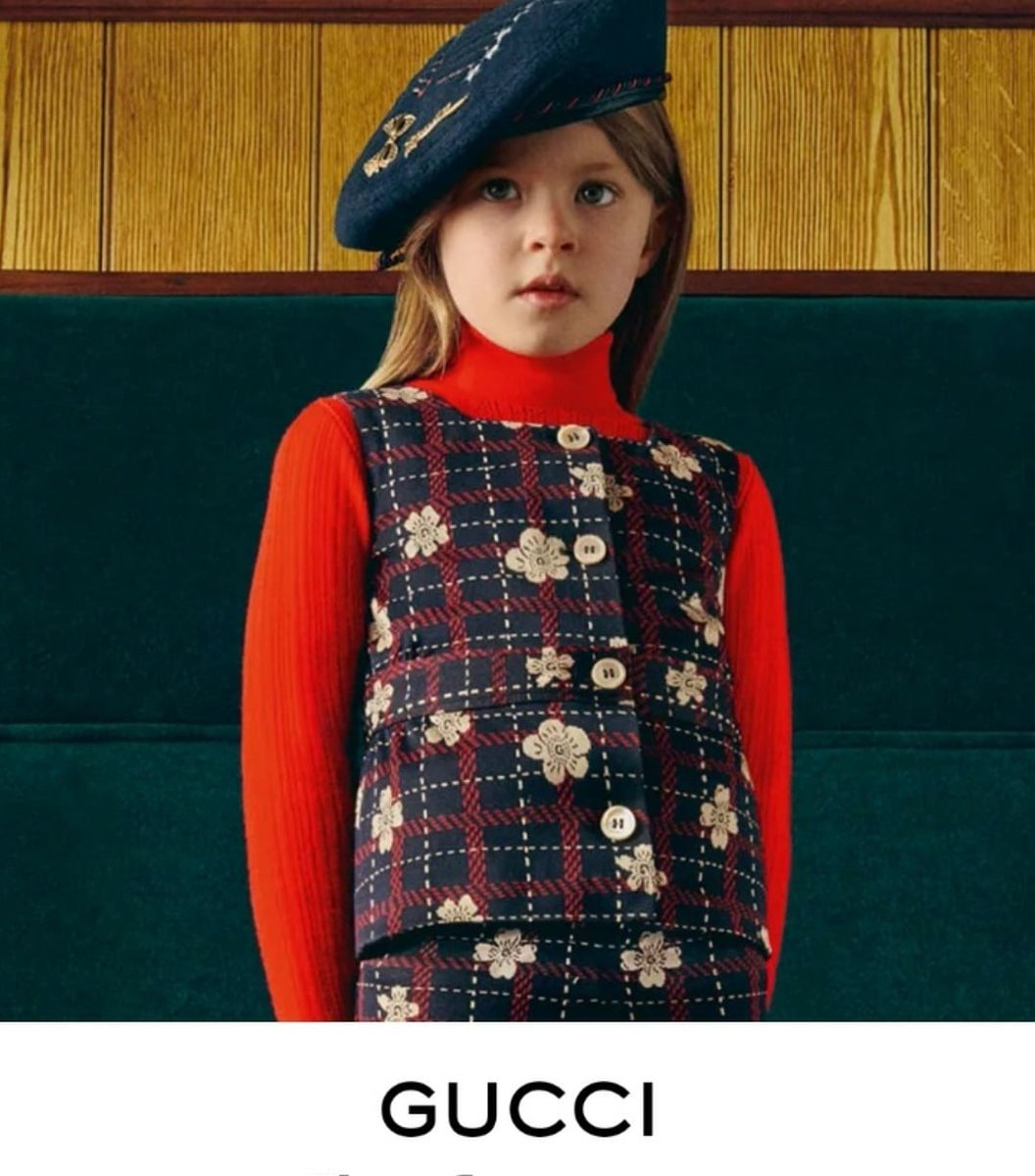 Another gorgeous Gucci spot of Freya #teamlacara #proudagent #childmodel #guccipic.twitter.com/CYZQXzkCQf