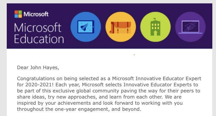 1st year of being an #MIEExpert! Can't wait for the year ahead!