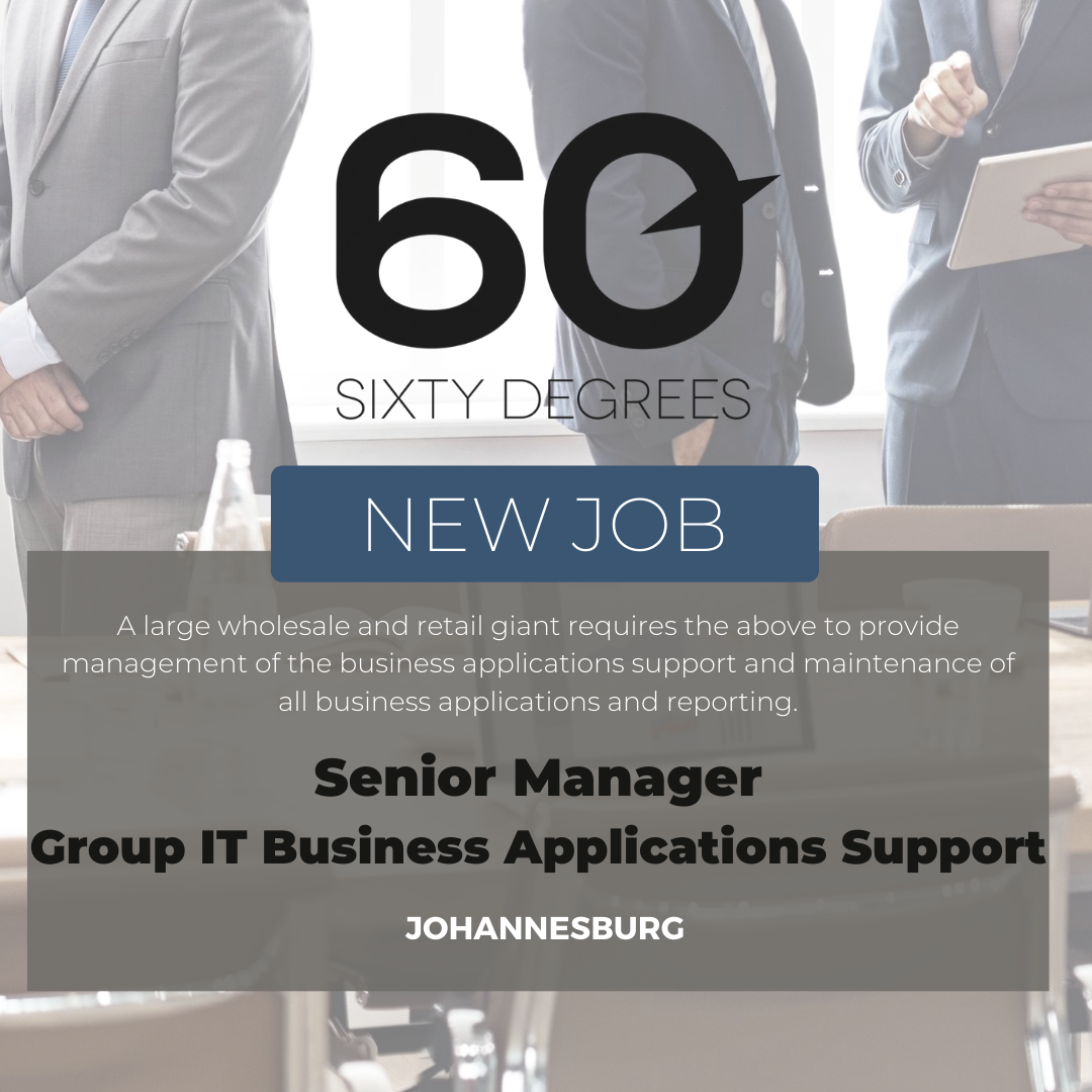 test Twitter Media - New #JobAlert -Senior Manager: Group IT Business Applications Support in JHB  https://t.co/8wDxgCDVXl  #itjobs #60Degrees #60DRecruiter #60Droles https://t.co/phve1UNHfw
