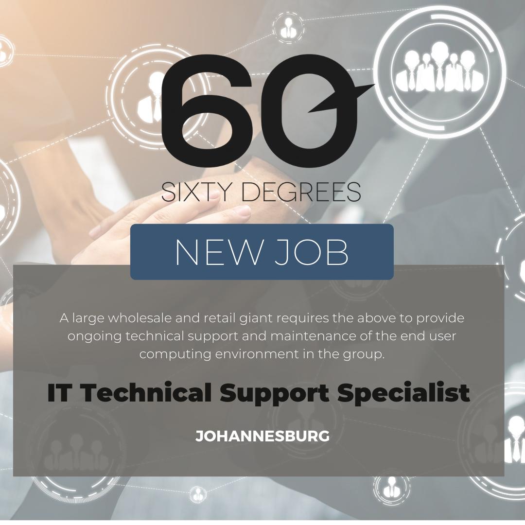 test Twitter Media - New #JobAlert - IT Technical Support Specialist in JHB  https://t.co/nOh4mUeoUS  #itjobs #60Degrees #60DRecruiter #60Droles #techsupport https://t.co/dUrPc9Yw1Q