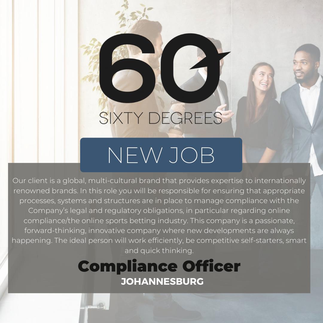 test Twitter Media - New #JobAlert - Compliance Officer in JHB  https://t.co/AdDQLo9Puq  #compliancejobs #60Degrees #60DRecruiter #60Droles https://t.co/w41FgbeOC7